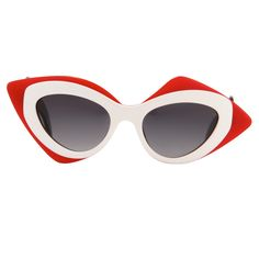 Linda Farrow Prabal Gurung Red Sunglasses in Red