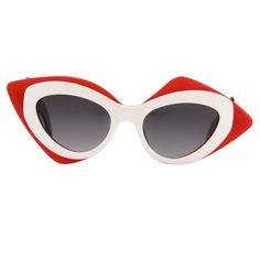 Linda Farrow Prabal Gurung Red Sunglasses in Red