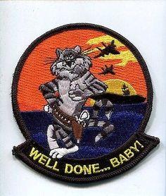 "F-14 TOMCAT ""WELL DONE BABY"" Final Grumman Patch"