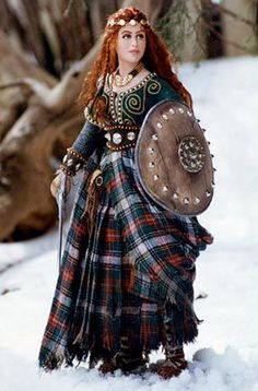 Make sure this Celtic warrior maiden is in jovial spirits when inviting her over for cocktails with friends. (You may suggest that this time, she leave the shield at home.)