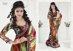 Suitsvilla Red Fabulous Georgette Printed Saree Online,Fabulous Georgette Printed Saree Online, It provides you a rare and precious collection of Printed Saree. All the Printed Saree displayed on this website are carefully collected. The sarees are the prized possession of any woman fancying wearing a saree. The sarees are made in beautifully coloured silk clothes with complex, dense, intricate and beautiful figural or geometrical decorations.