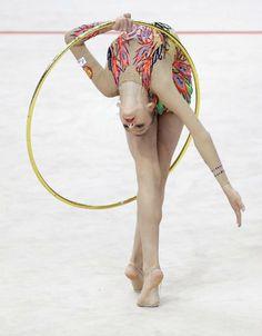 Aleksandra Soldatova (Russia) won silver in hoop at World Cup (Kazan) 2015