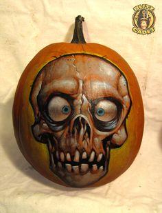 Pumpkin Skull by blitzcadet on deviantART