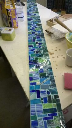 super Ideas for kitchen backsplash ideas mosaic Mosaic Crafts, Mosaic Projects, Stained Glass Projects, Stained Glass Patterns, Mosaic Patterns, Mosaic Artwork, Mirror Mosaic, Mosaic Glass, Fused Glass