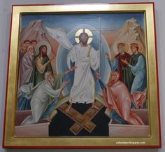 Descent into the abyss (the icon of Resurrection) from Dominican church in Rzeszów, Poland
