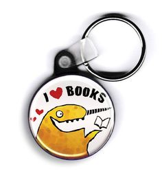 I  Books Keychain | 33 Impossibly Cute Ways To Cover Your Body In Books