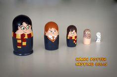 Harry Potter Nesting Dolls I made @Ellen Ross for Christmas!