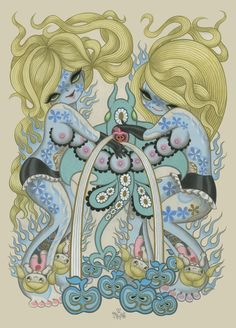 Junko Mizuno -- I find the subject matter creepy as all get-out, but I like the near-symmetry of it.