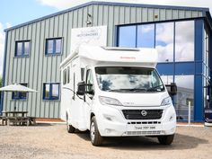 Motor home on forecourt of South West Motor Homes Motor Homes, Creative Video, Video Capture, Content Marketing Strategy, Video Editing, Videography, Recreational Vehicles, Commercial, Photography