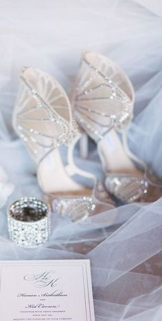 Jimmy Choo Great crystal shoes. Perfect compliments for wedding.