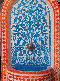 bright tiles in morocco