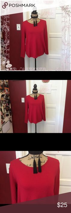 Cute Chico's sweater Cute sweater in excellent lightly used condition- zippers in the back at the neck Chico's Sweaters Crew & Scoop Necks