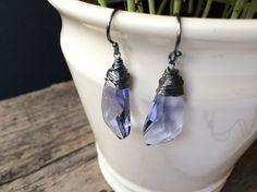 #Crystal #DropEarrings / Wire Wrapped #Earrings / by DevikaBox, $27.00