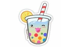 Bubble Tea Stickers  Redbubble 220x200 Bubble Tea, Bubbles, Kawaii, Rainbow, Stickers, Pictures, Photos, Kawaii Cute, Rain Bow