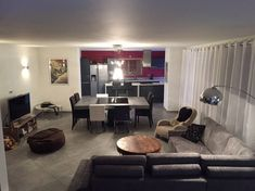 Huge 50m2 open plan living/dining area.