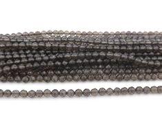 Smoky Quartz, Round Beads, Gemstone Beads, Natural Stones, Beaded Jewelry, Jewelry Making, Gemstones, Diamond, Etsy