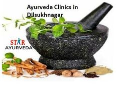 Starayurvedic and Research center is a division of Starayurveda group based in Hyderabad.The major activity of Starayurvedic Hospital includes ,all disorders treated with ayurvedic medicines by safe zone all are ayurvedic medicine ,with no side effects and we will cure all kinds of diseases,hence westar ayurveda  provides  an efficient treatment . Visit@https://goo.gl/GuK4Ti  9959911088 #ayurvedaclinicsindilsukhnagar