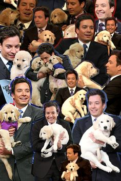 maybe it's because of my crush on jimmy fallon...maybe it's because of my crush on puppies...but i could look at this all day