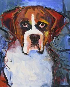 Boxer dog Original Acrylic Painting 8x10 by dogartstudio on Etsy