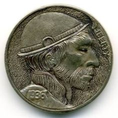 Steve Ellsworth - Cristian Montañas Hobo, Buffalo, Classic Style, Coins, Carving, Rooms, Wood Carvings, Sculptures, Printmaking