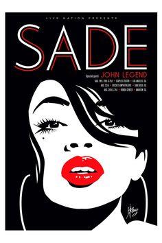 Sade Live Nation Concert Litho