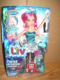 Spin Master LIV TWIST & DANCE SOPHIE Doll 80s Themed Clothes & Pink Wig | eBay