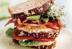 Eating well has never been easier, starting with this fresh take on a classic club sandwich, which piles one good thing upon another, starting with whole grain bread and white bean spread (together containing more than half your day's recommended fiber).