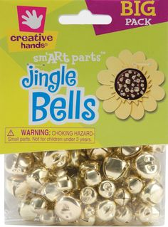 Fiber Craft 72-Pack Jingle Bells, 6mm-16mm, Gold