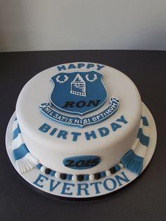 Everton Shirt Birthday Cake