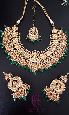 Sabyasachi Inspired Luxury Indian Necklace Set Kundan Earrings Bridal Indian #finessejewelsus #finessejewels