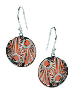 Tianguis Jackson Copper and Silver Sunray Earrings