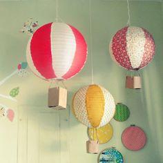 diy paper lantern hot air balloons - love these