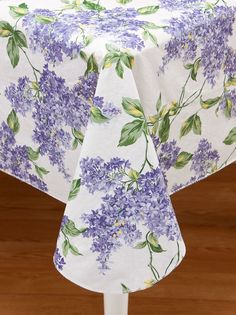 """All Season Vinyl Tablecloth in """"Lilac"""" @ Vermont Country Store"""