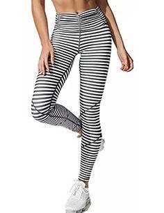 3077abb5ec43e Women Activewear Grey White Stripe Love Ankle Leggingworkout clothes  outfits
