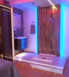 #bathroomlighting #bathroom #kbb #rgbstrip #colourchanging