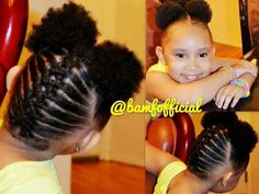 african american toddler girl hairstyle braided to an afro poof Lil Girl Hairstyles, Girls Natural Hairstyles, Natural Hairstyles For Kids, Kids Braided Hairstyles, Toddler Hairstyles, Princess Hairstyles, Little Girl Braids, Black Girl Braids, Braids For Kids