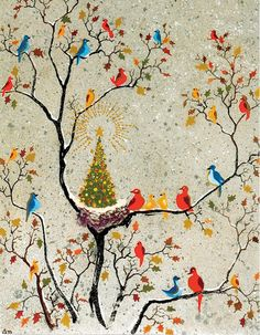 """**""""Avian Holiday"""" by Adolf Dehn - my Advent calendar was based on this."""