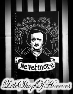 Nevermore Notebook by LttleShopOfHorrors on Etsy