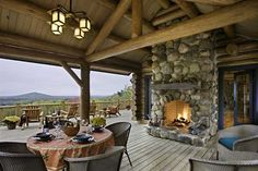 log home decks | ... can't get over the deck of this log cabin. The view, huge deck and