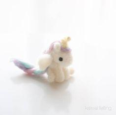 Super Cute Unicorn Needle Felting DIY with Video Tutorial