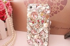 Pearl iphone case,Bling bling flower  iPhone 4s/5 Case,sCrystal iPhone4s/ 5 Case, iPhone Case,Crystal Slim Case Cover Skin For iPhone 4 4s 5 on Etsy, £13.35