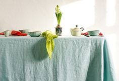 Pure linen tablecloth. GARMENT DYED. First class by vydravolkmer Linen Tablecloth, Linen Napkins, Types Of Colours, Linen Fabric, Pantone, Pure Products, Contemporary, Flax Weaving, Burlap Tablecloth