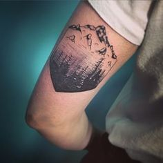 This lovely wilderness scene. | 26 Stunning Tattoos For Nature Lovers
