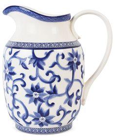 Lauren Ralph Lauren Dinnerware, Mandarin Blue Pitcher - Fine China - Dining & Entertaining - Macy's