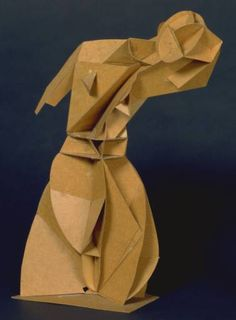 Students in my Art class have been studying Cubist and Constructivist sculptures , looking specifically at the art of Naum Gabo, whose w. Cubist Sculpture, Cardboard Sculpture, Cardboard Art, Modern Sculpture, Tate St Ives, Tate Gallery, Art Terms, Art Plastique, Teaching Art