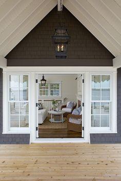 "Coastal Muskoka Living Interior Design Ideas - ""Exterior Paint Color"" (Kendall Charcoal Benjamin Moore)"