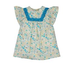 Turquoise Flower Dress from Lace & Ribbons
