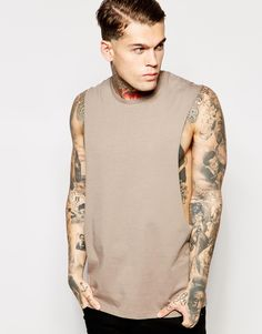 """T-shirt by ASOS Soft-touch jersey Crew neck Raw sleeve seams Dropped armholes Regular fit - true to size Machine wash 100% Cotton Our model wears a size Medium and is 185.5cm/6'1"""" tall"""