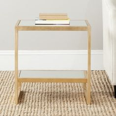 Safavieh Treasures Kennedy Gold/ Mirror Top Accent Table | Overstock.com Shopping - Great Deals on Safavieh Coffee, Sofa & End Tables