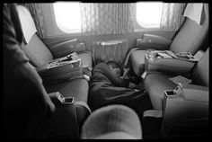 Robert Kennedy (Asleep On Plane), Last Campaign, 1968 | photographed by Lawrence Schiller